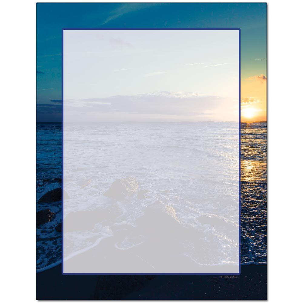 Ocean Sunset Letterhead