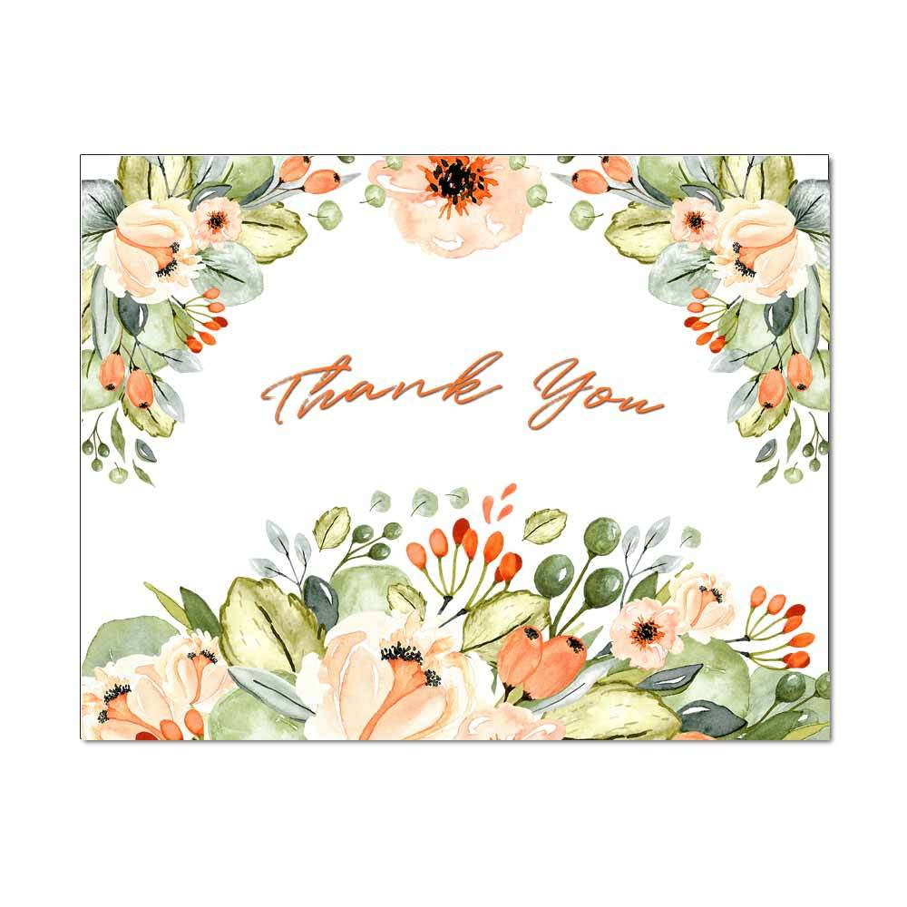 Orchard Floral Thank You Card