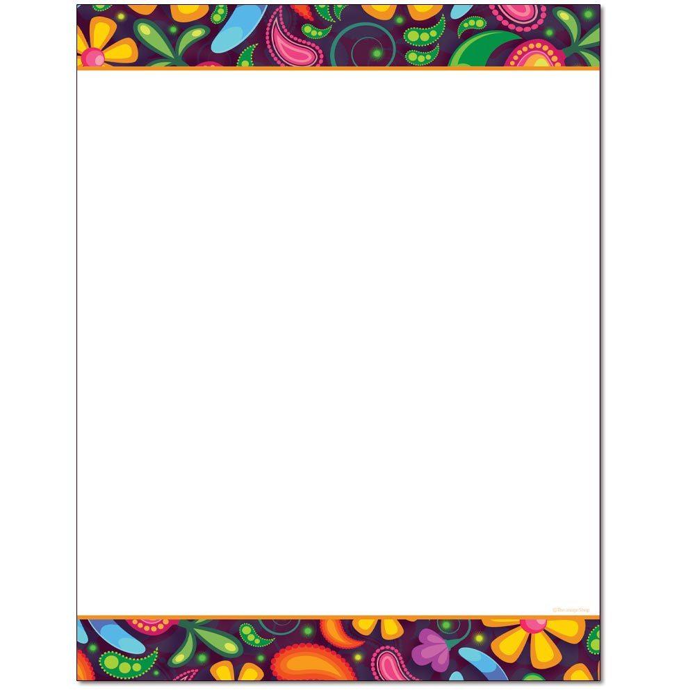 Paisley Pattern Letterhead