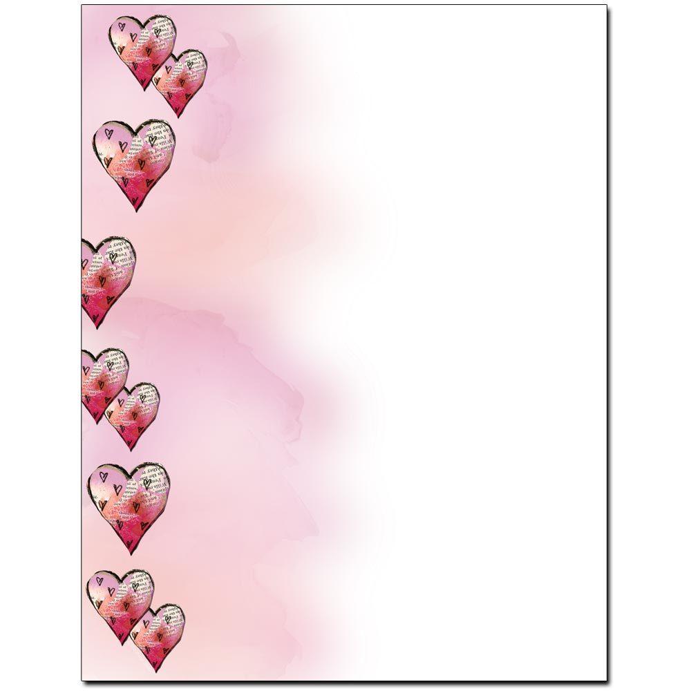 Paper Mache Hearts Letterhead