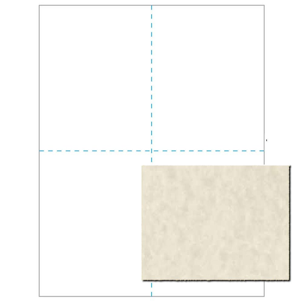 Blank Parchment Post Cards, 65lb Cover