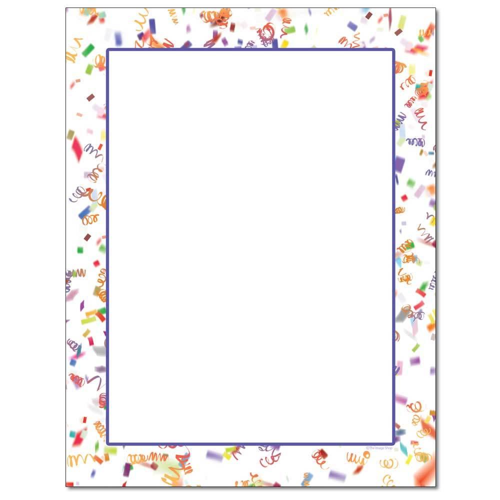 Party Confetti Letterhead