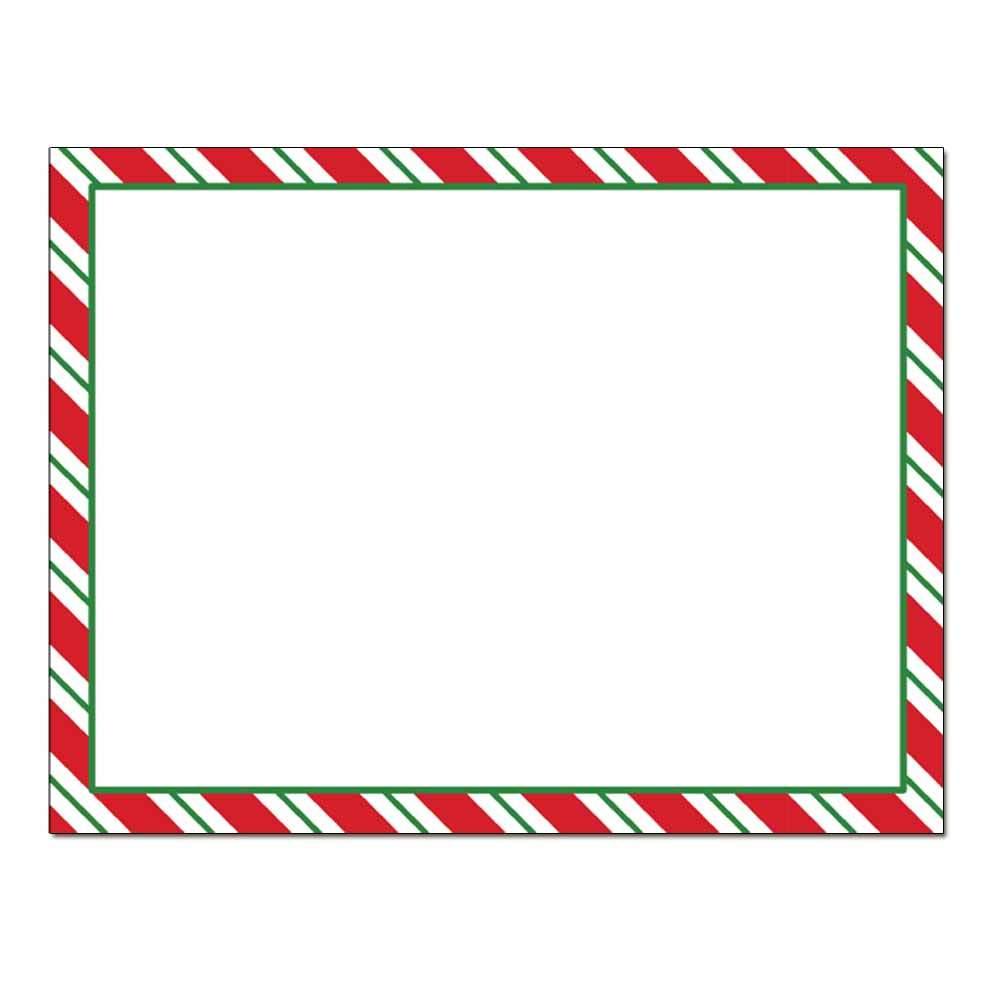 Peppermint Stripes Post Card 48pk