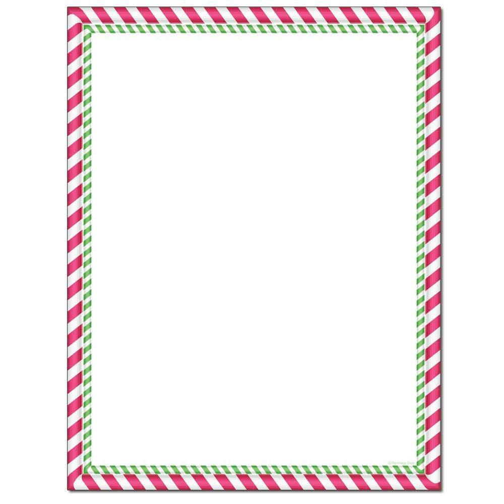 Peppermint Stripes Letterhead