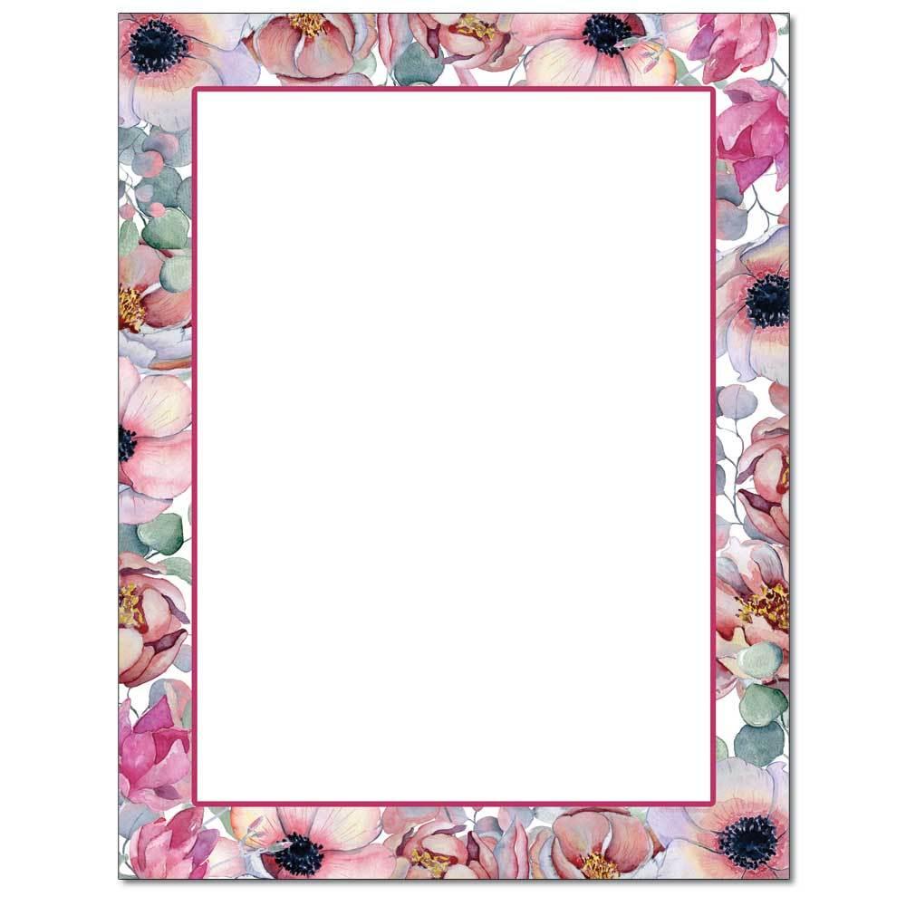 Pink Bouquet Letterhead