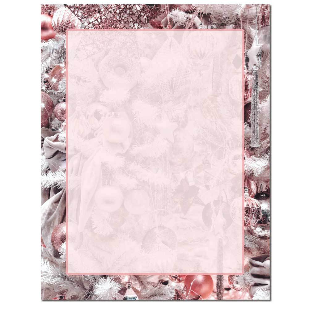Pink Holiday Letterhead