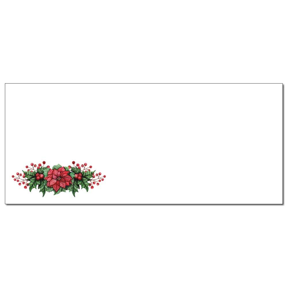 Poinsettia Valance Envelopes