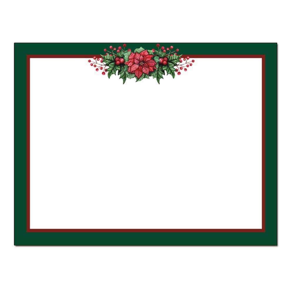 Poinsettia Valance Post Card 48pk