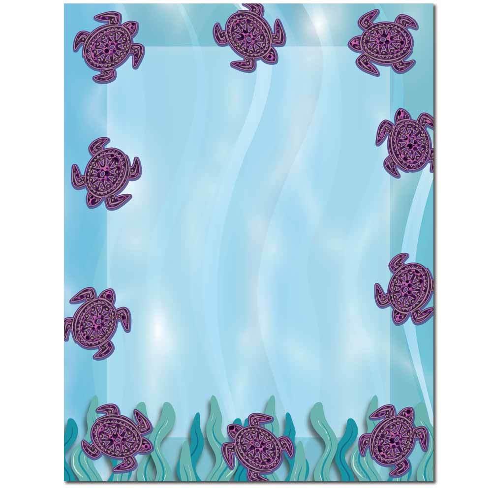 Purple Turtles Letterhead