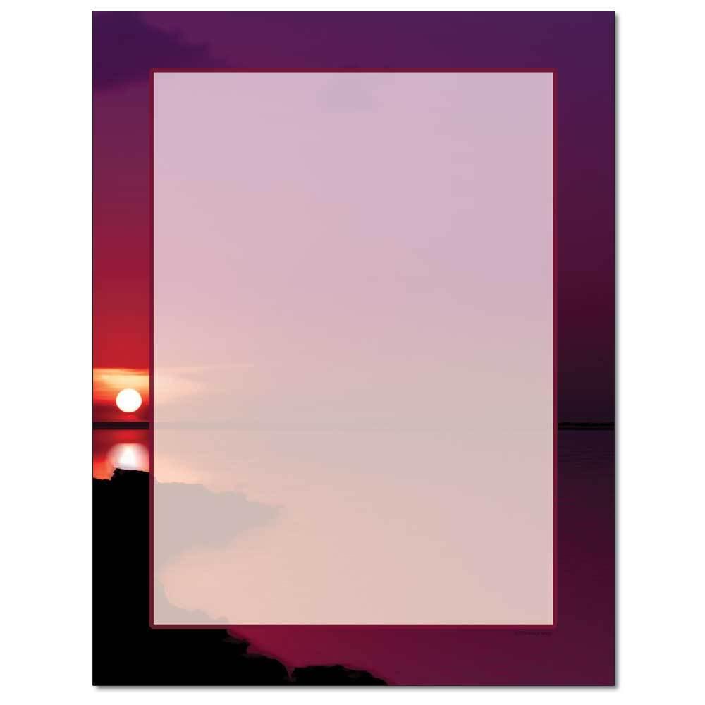 Red Sunset Letterhead