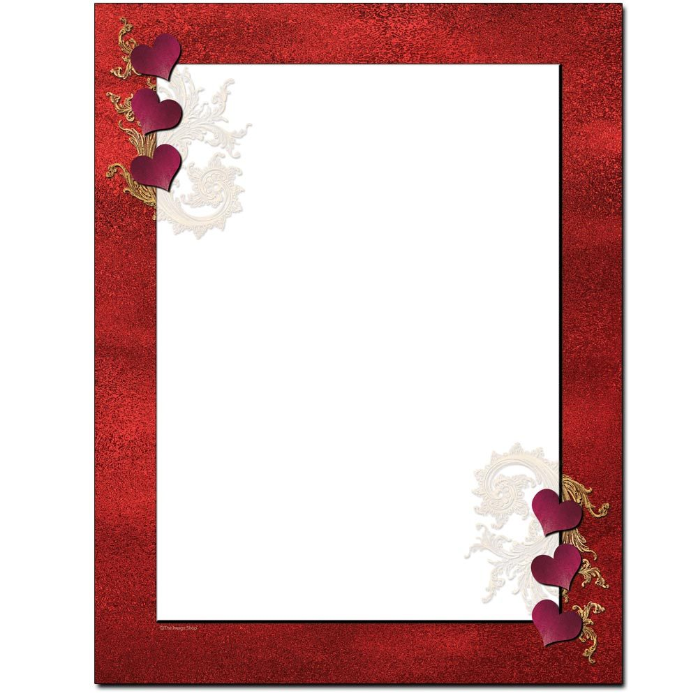 Red Velvet Hearts Letterhead