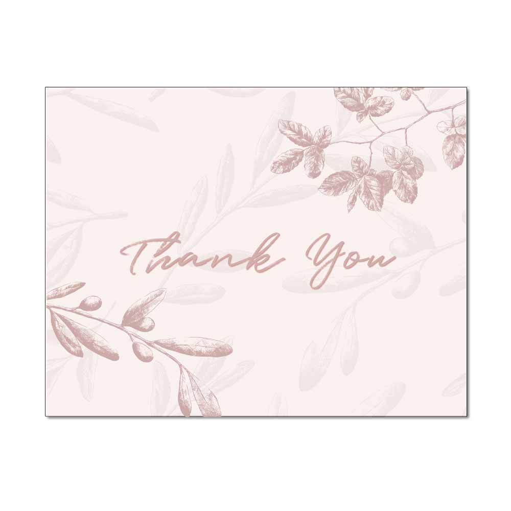 Rose Leaves Thank You Card
