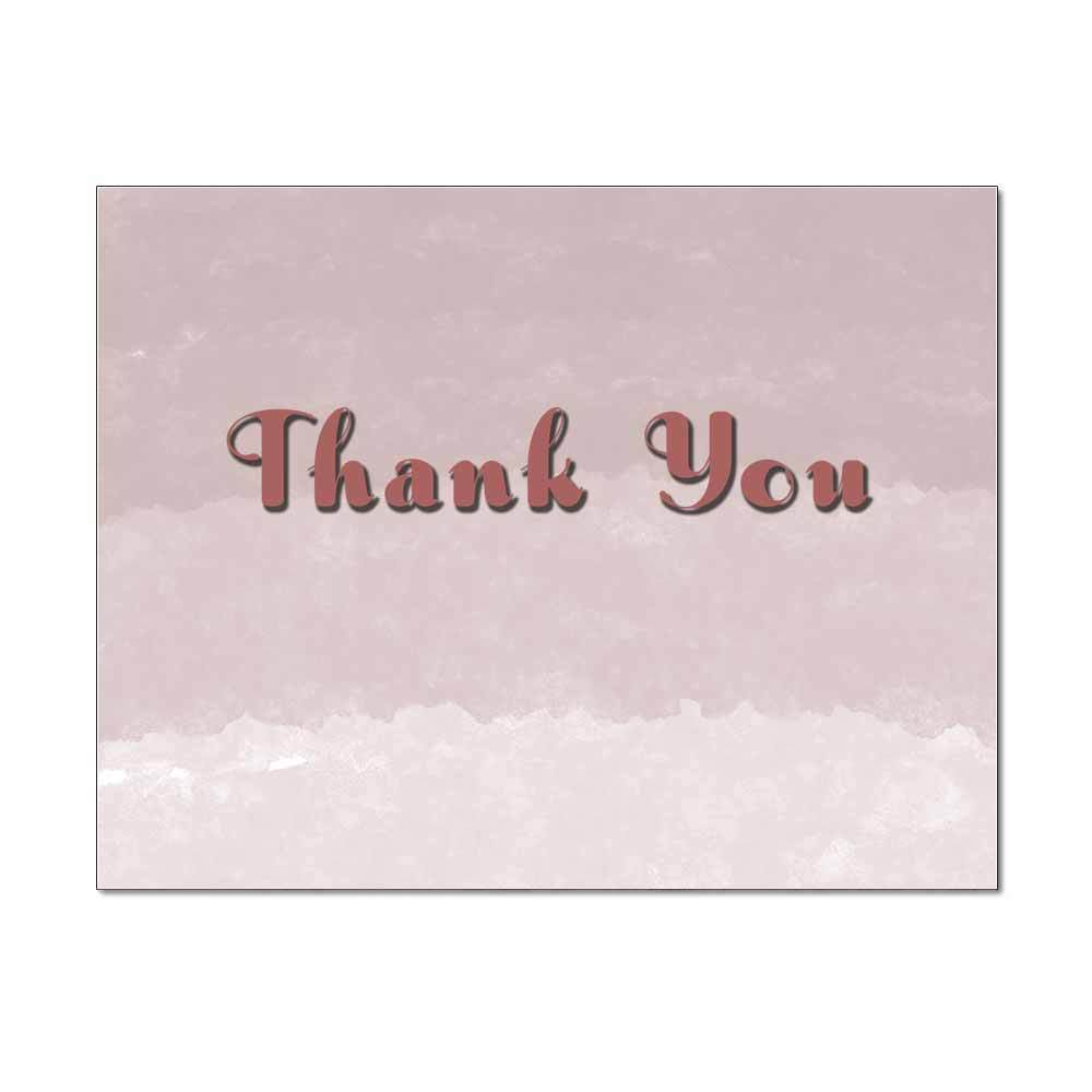 Rose Ombre Thank You Note Card