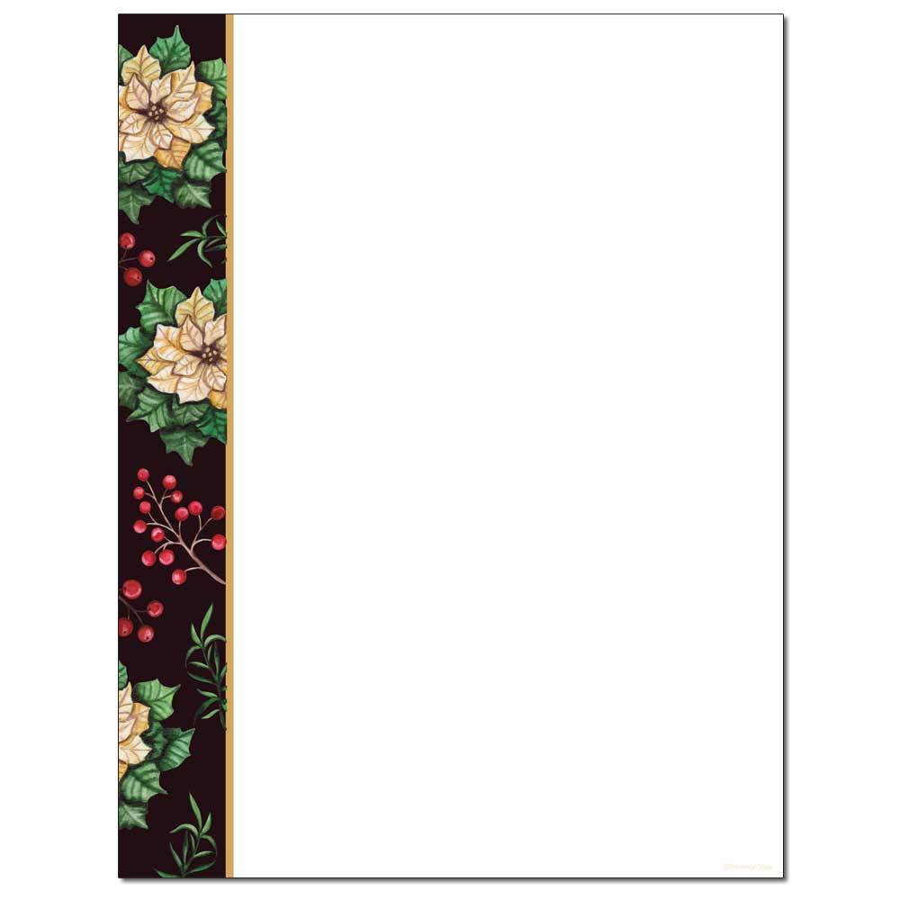 Royal Poinsettias Letterhead