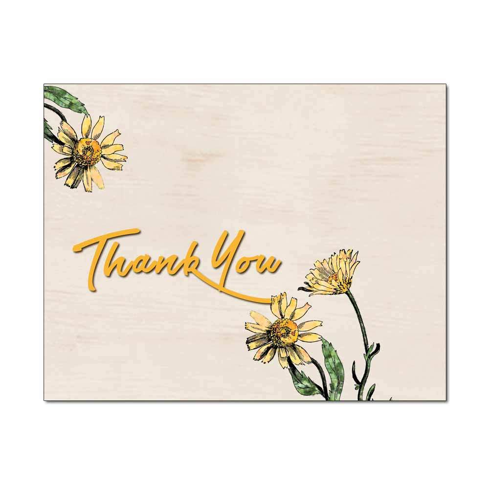 Rustic Daisies Thank You Note Card