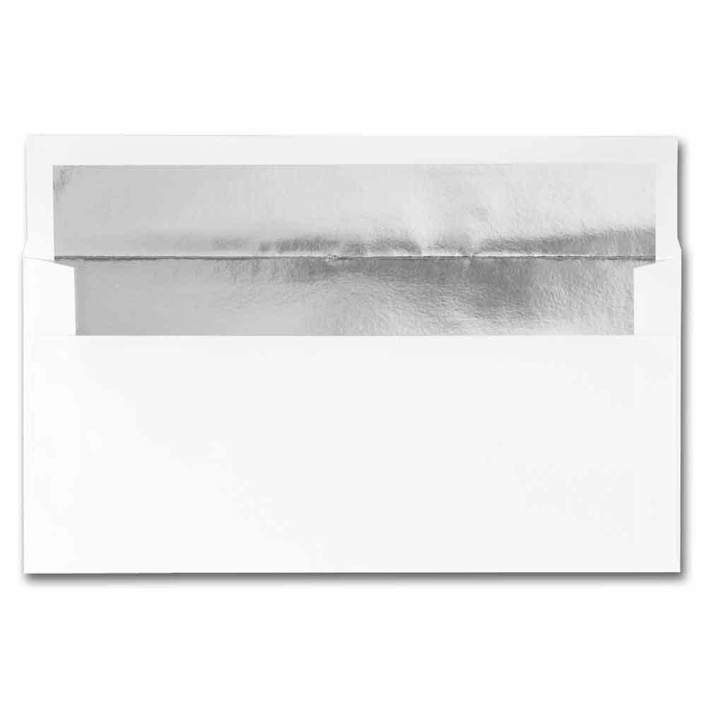 White Silver Foil Envelope