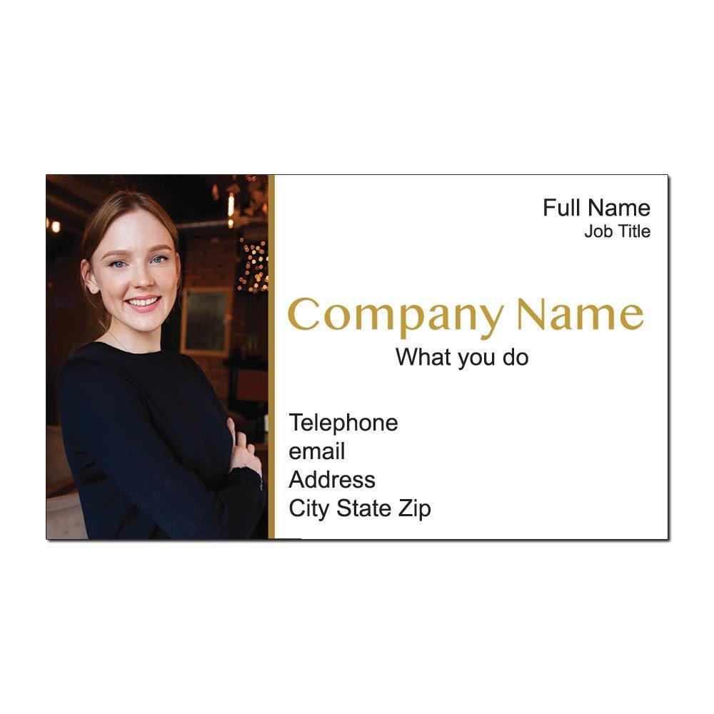 Simple Portrait Custom Business Cards