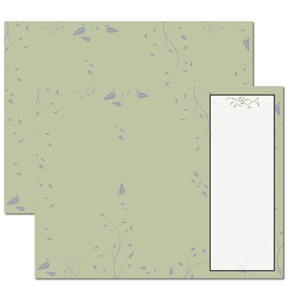 Sage Leaves Trifold Brochure