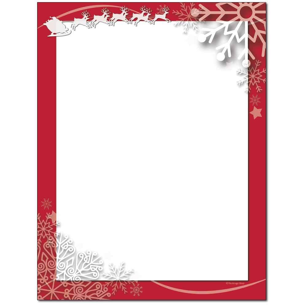 Santa Swirls Letterhead