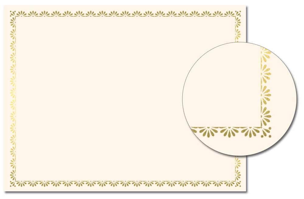 Scallop Border Foil Certificate