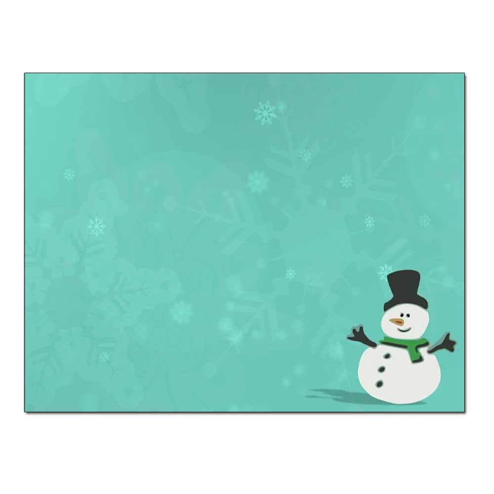 Silly Snowman Post Card 48pk