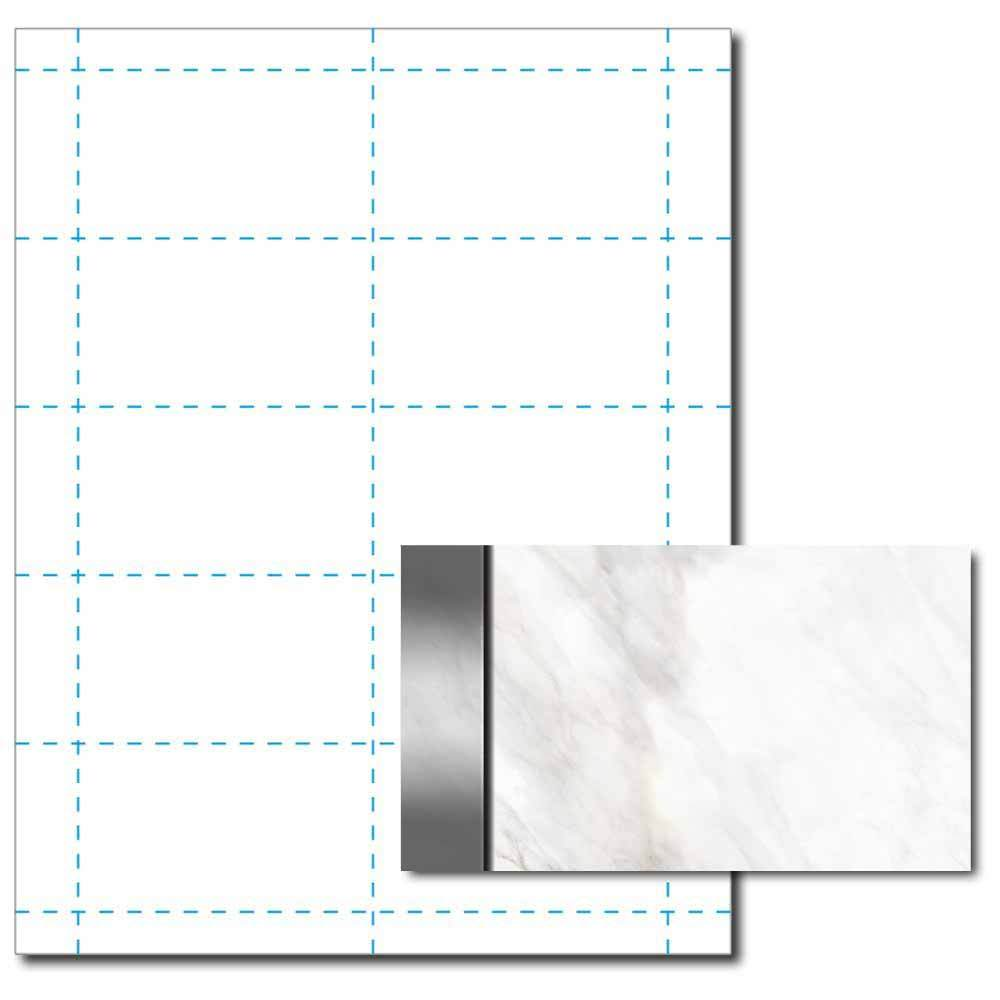 Silver Marble Business Card