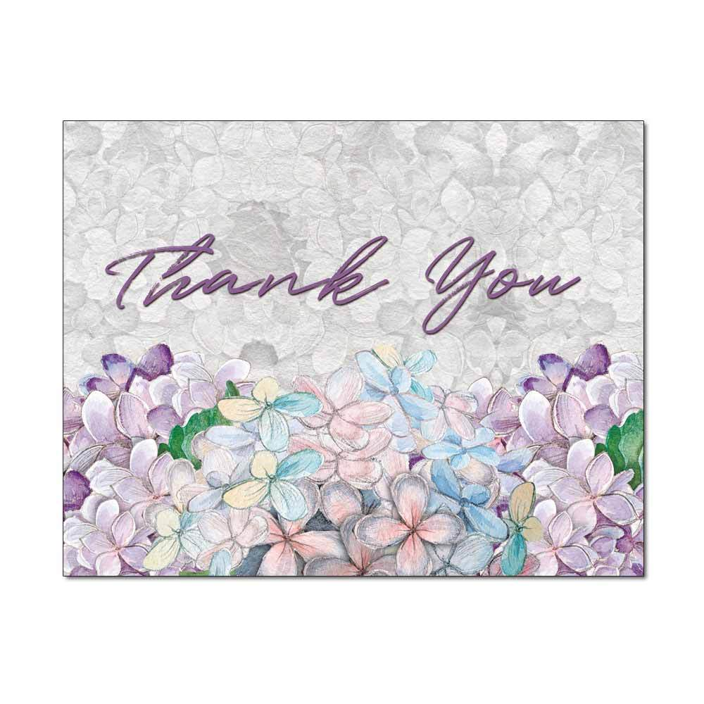 Sketched Hydrangeas Thank You Note Card