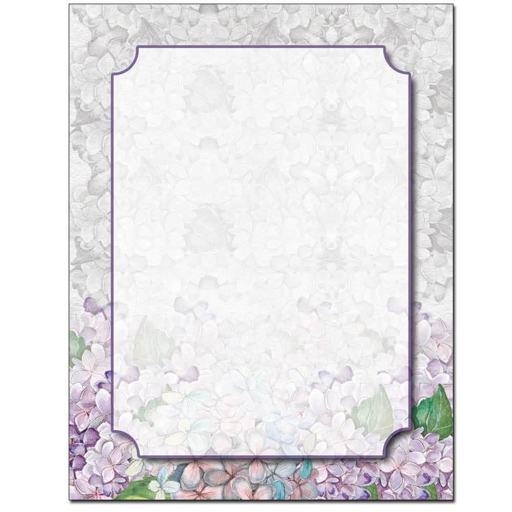 Sketched Hydrangeas Letterhead