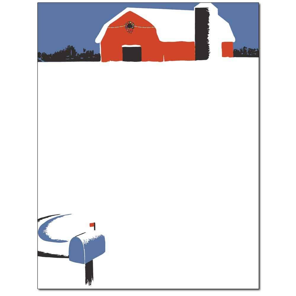 Snowy Barn Letterhead