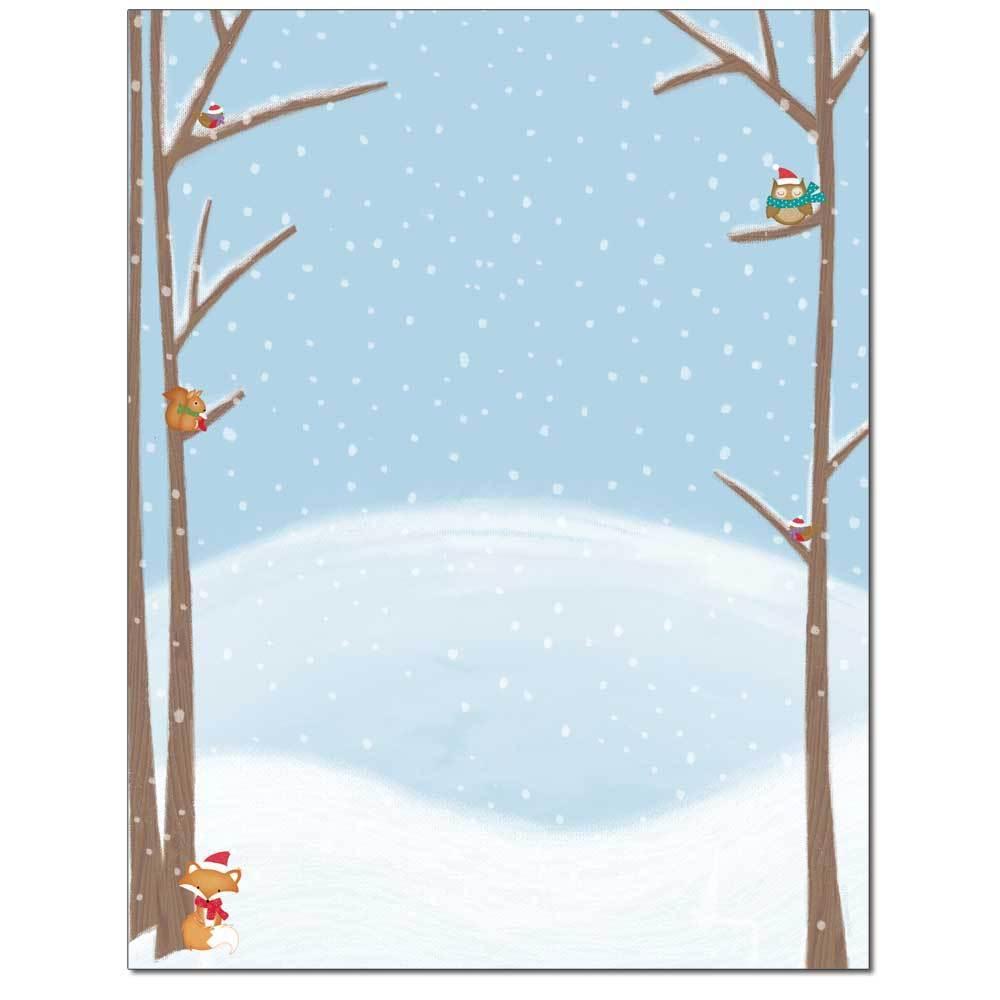 Snowy Friends Letterhead