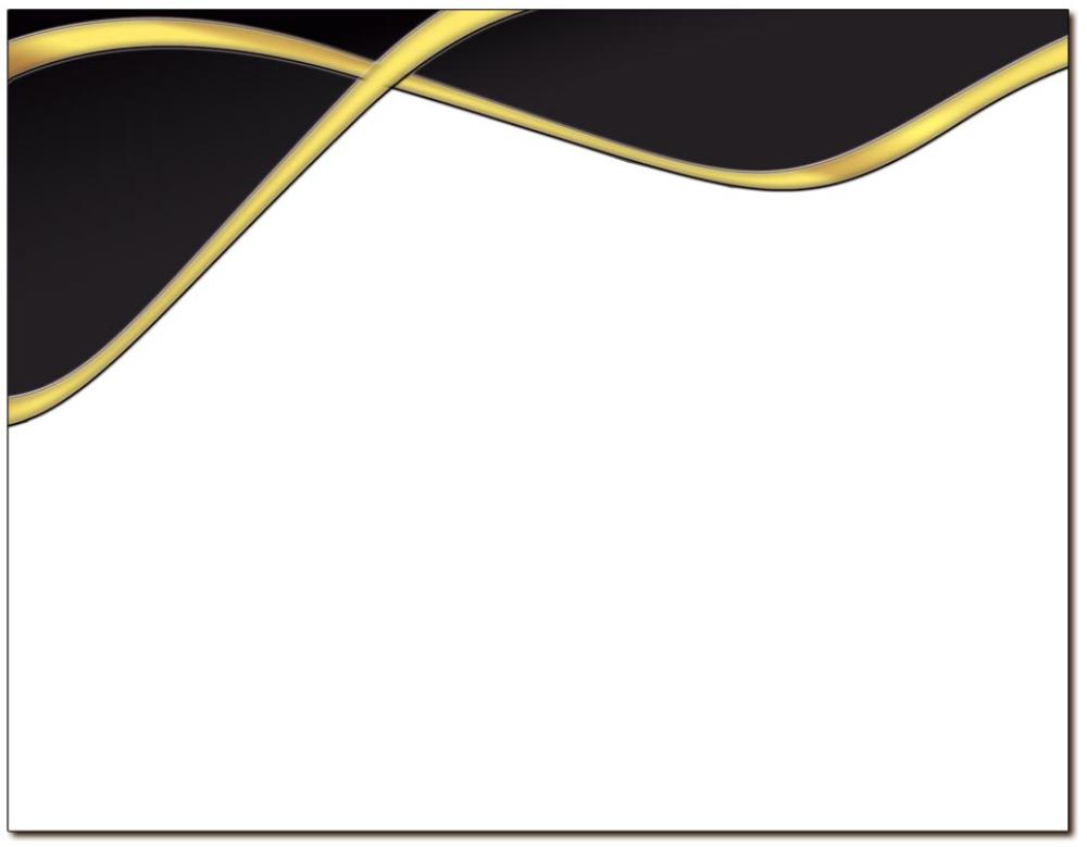 Spirit Black & Gold Certificate