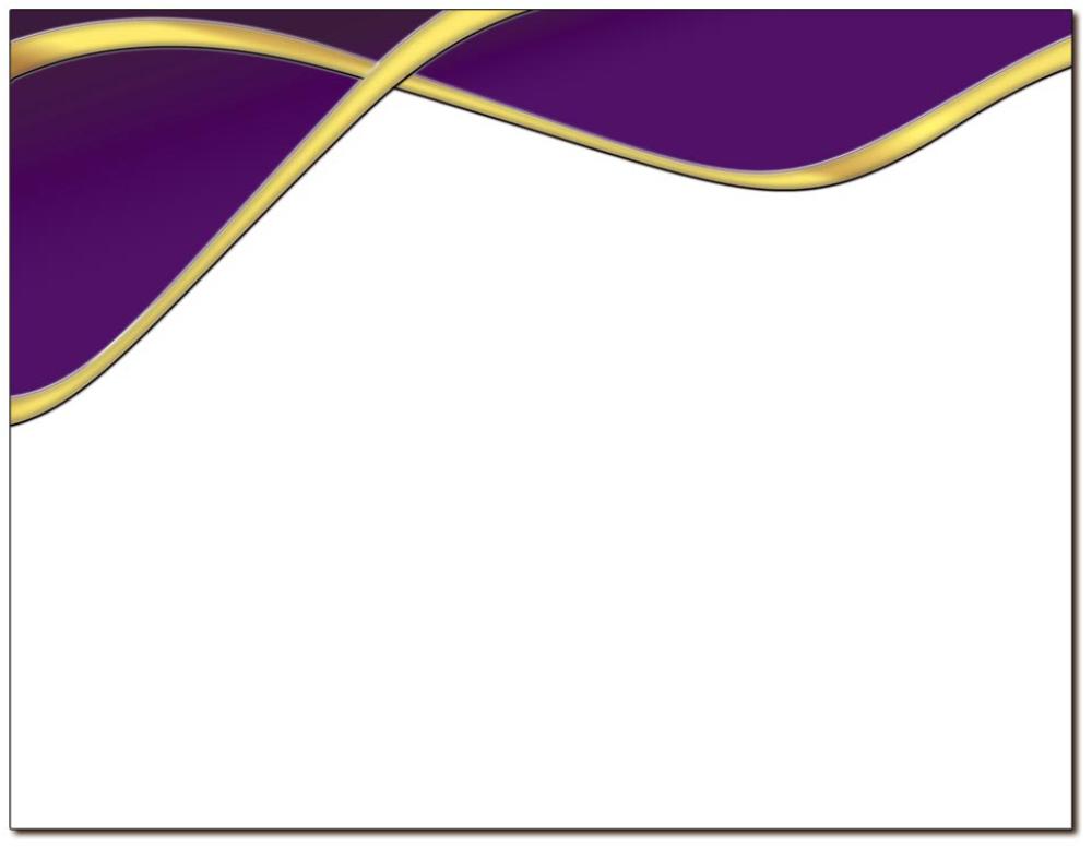 Spirit Purple & Gold Certificate