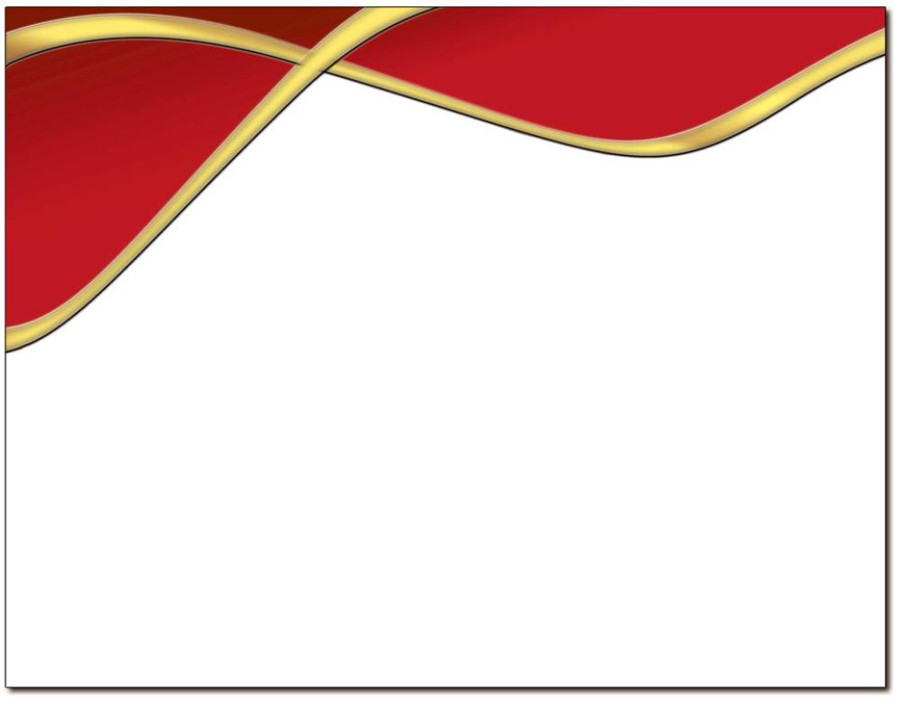 Spirit Red & Gold Certificate