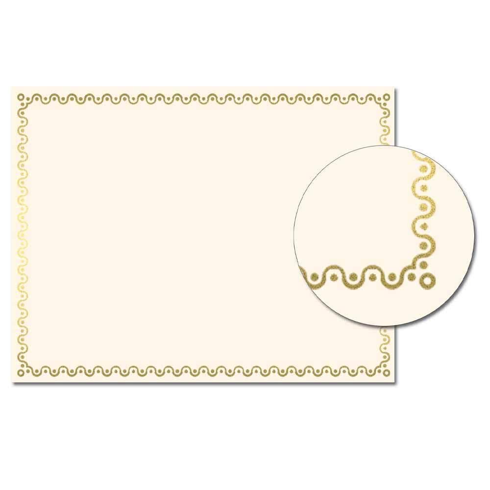 Squiggles Foil Certificate