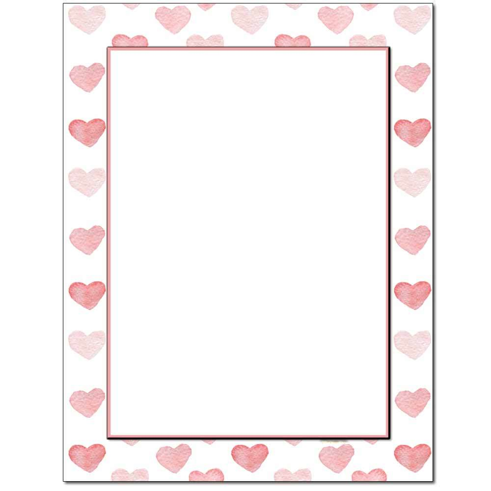 Stamped Hearts Letterhead