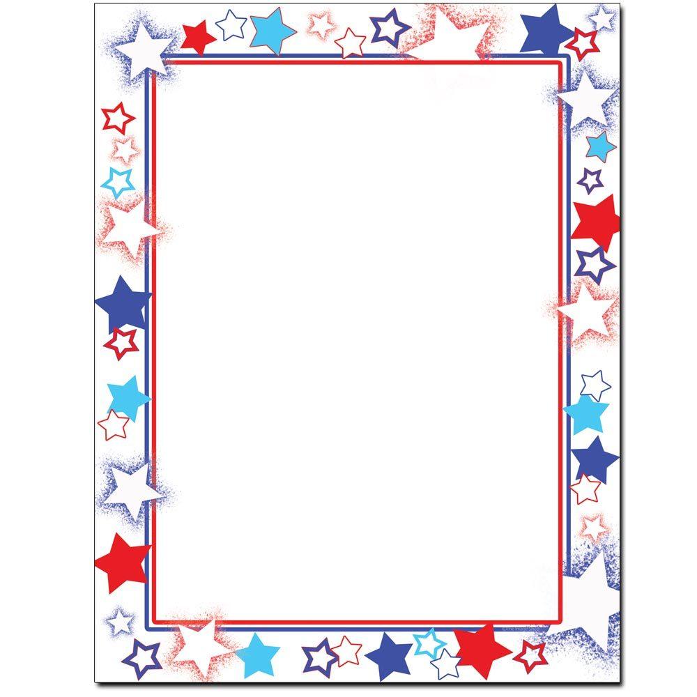 Patriotic Stars Letterhead