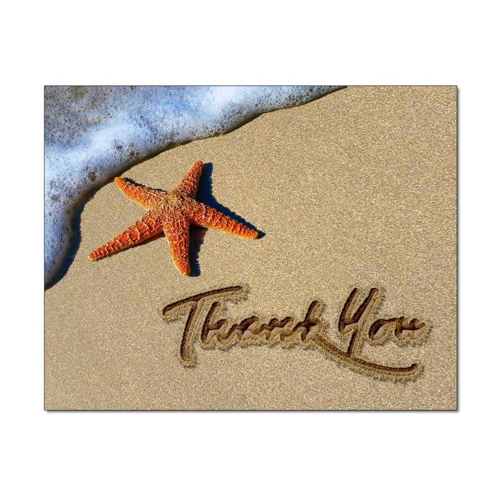 Starfish Thank You Note Card