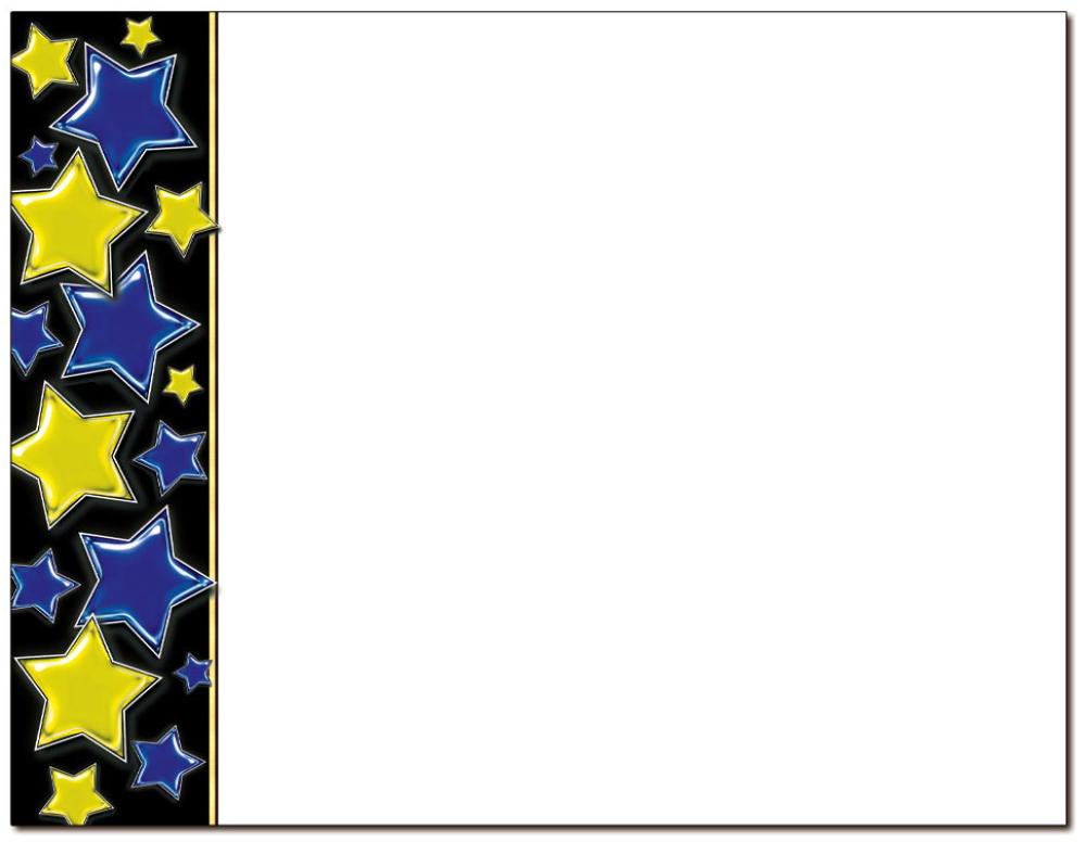 Stars Blue & Gold Certificate