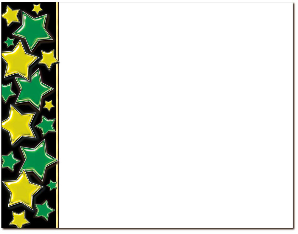 Stars Green & Gold Certificate