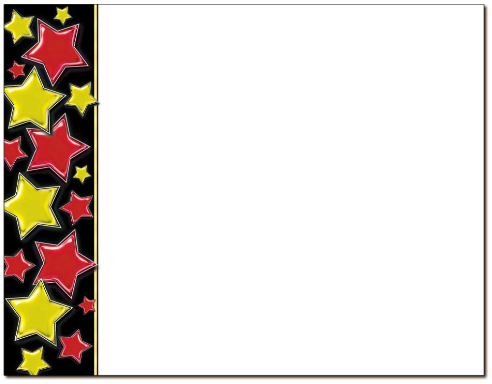 Stars Red & Gold Certificate
