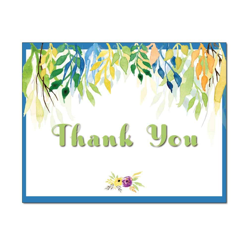 Summer Foliage Thank You Note Card