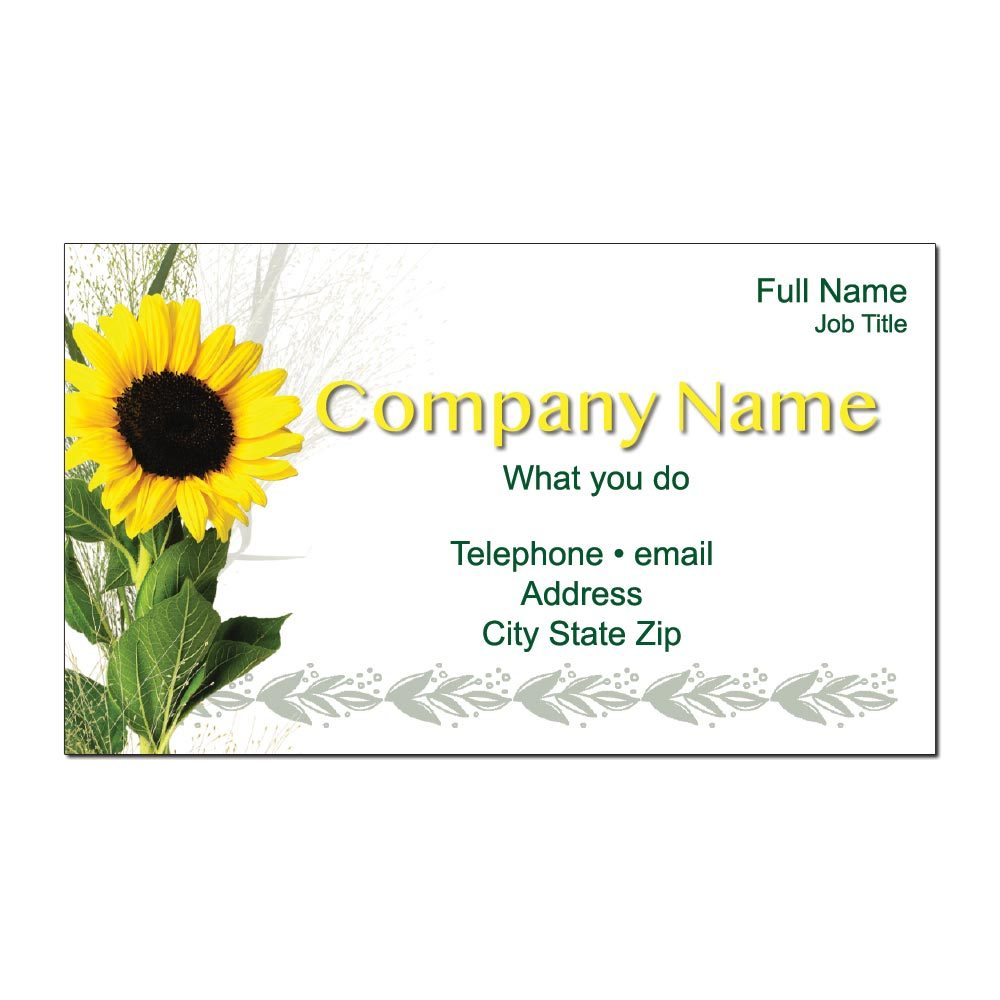 Sunflower Custom Business Cards