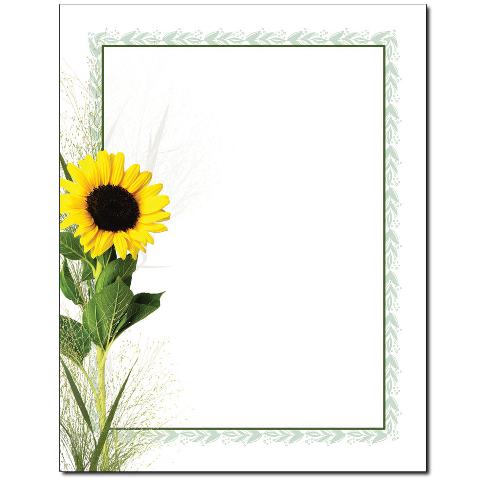 Sunflower Letterhead