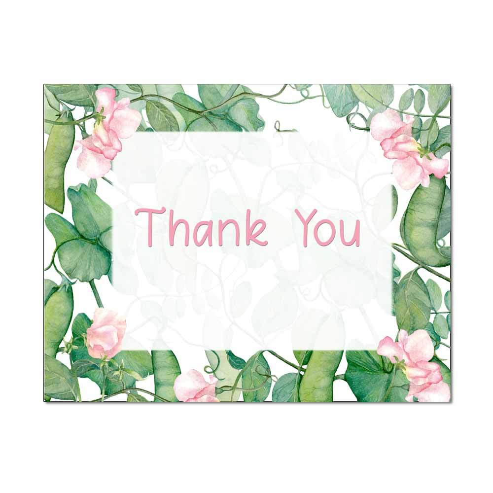 Sweet Peas Thank You Note Card