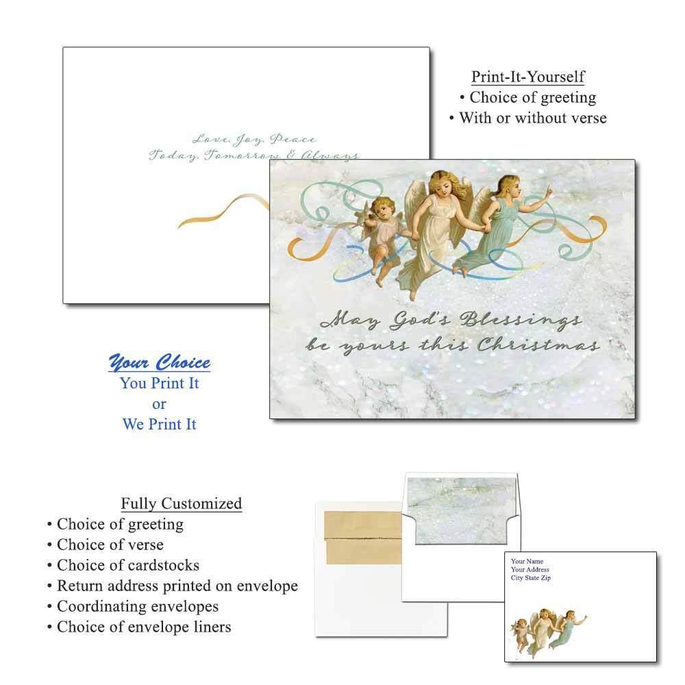 Three Angels Greeting Cards