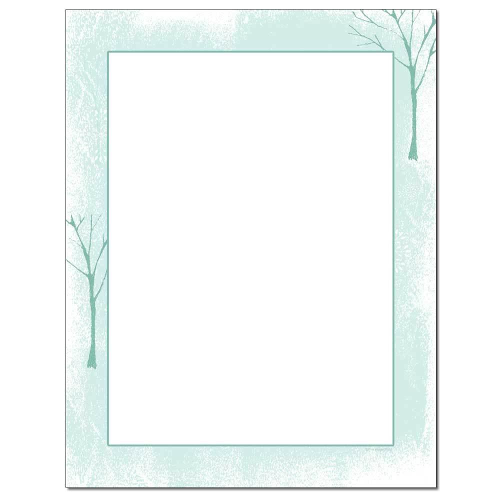 Tree Silhouettes Letterhead