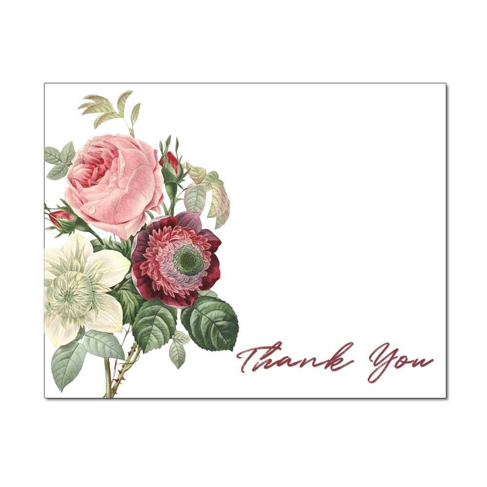 Vintage Bouquet Thank You Note Card