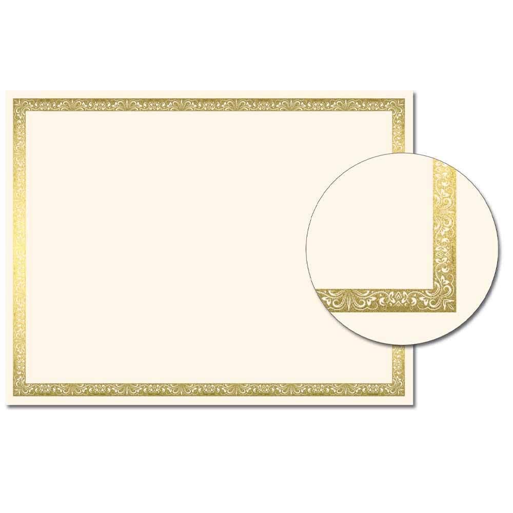 Vintage Foil Certificate