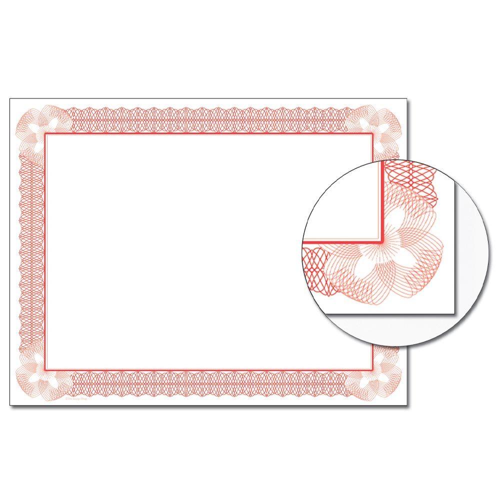 Vivid Red Certificate
