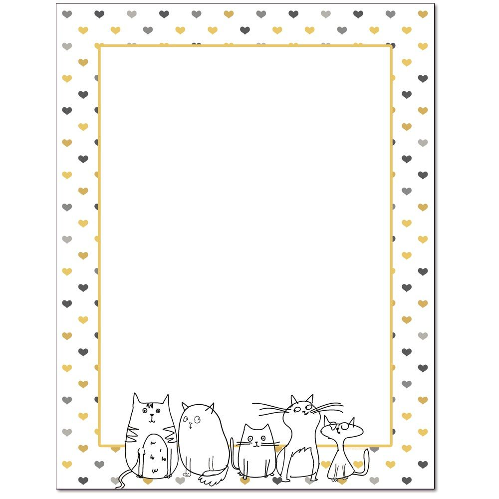 We Love Cats Letterhead